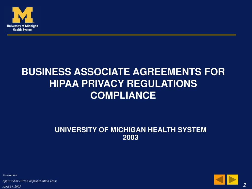 Business Associate Agreements for HIPAA Privacy Regulations Compliance
