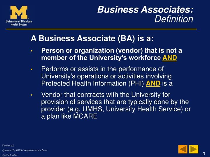 Business associates definition