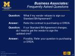 business associates frequently asked questions17