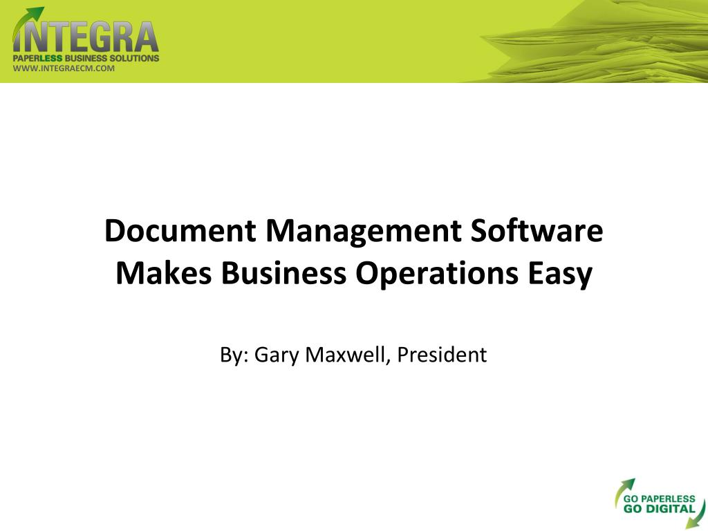 Document Management Software Makes Business Operations Easy