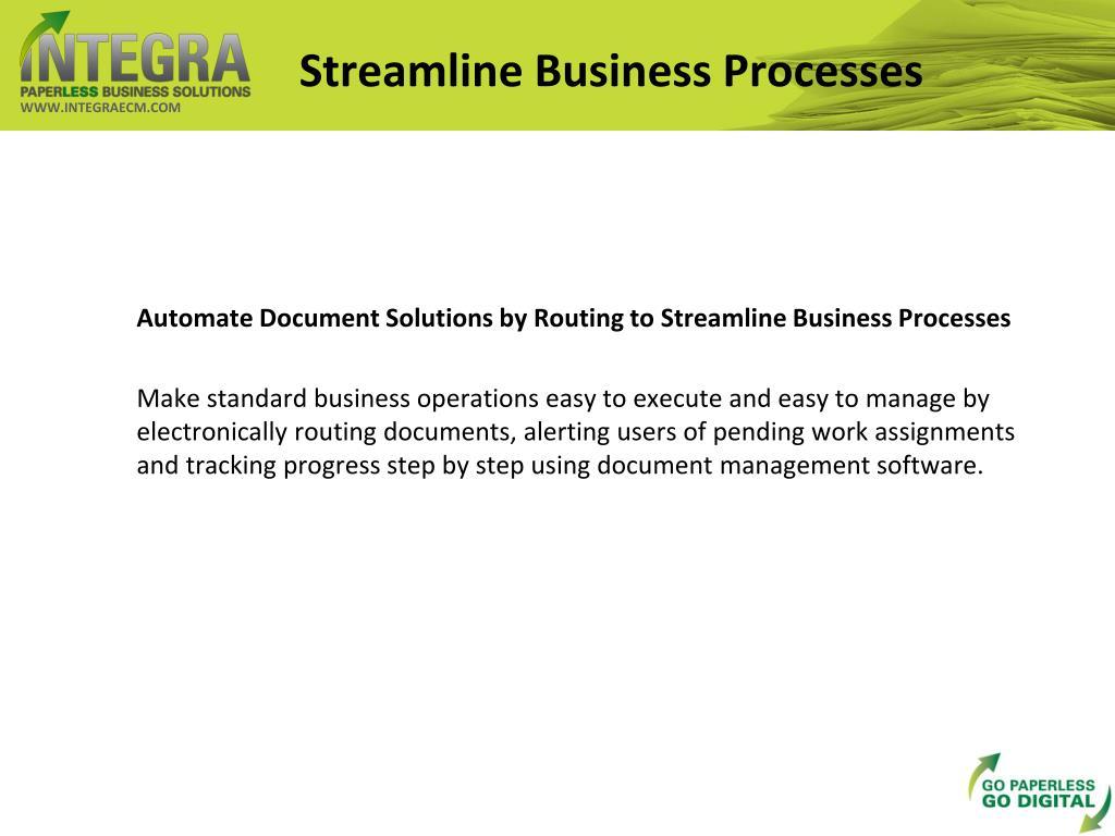 Streamline Business Processes