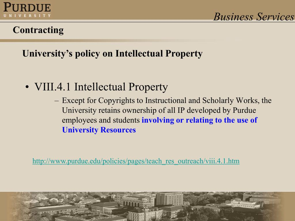 VIII.4.1 Intellectual Property