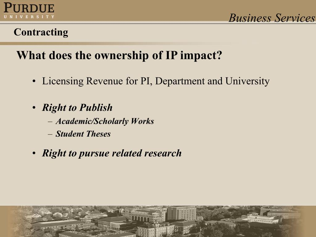 Licensing Revenue for PI, Department and University