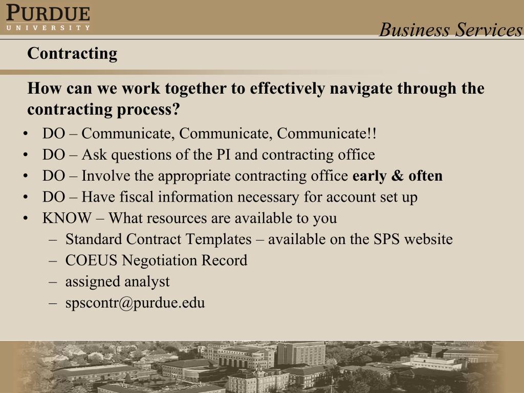 DO – Communicate, Communicate, Communicate!!