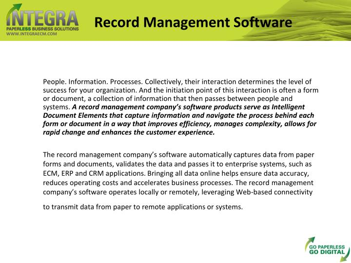 Record management software
