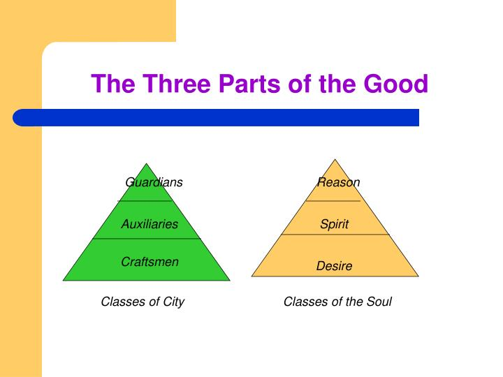 An overview of platos three part division on human soul