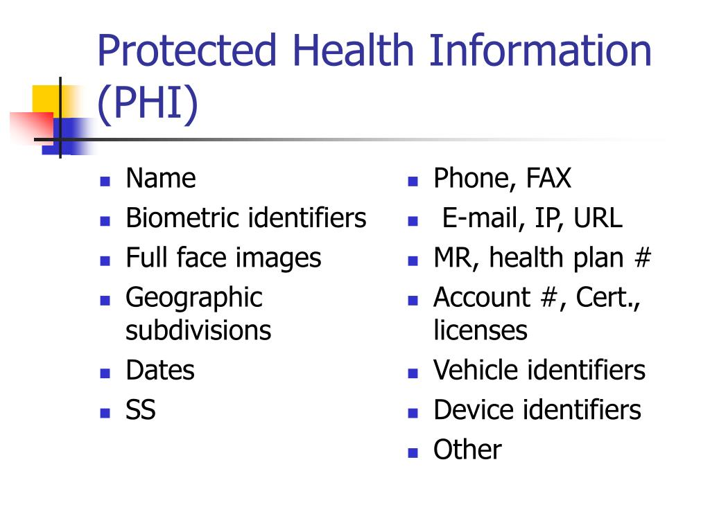 protected-health-information-phi-l Visual Protected Health Information Examples on information technology examples, protected patient information clip art, target market examples,