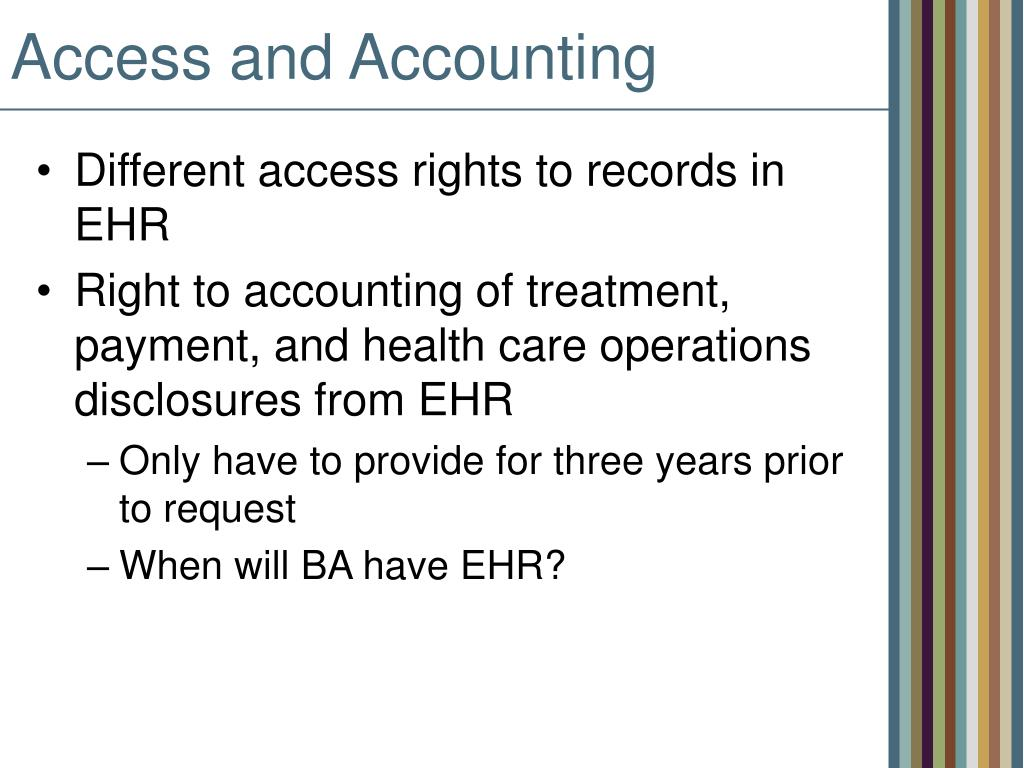 Access and Accounting