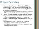 breach reporting