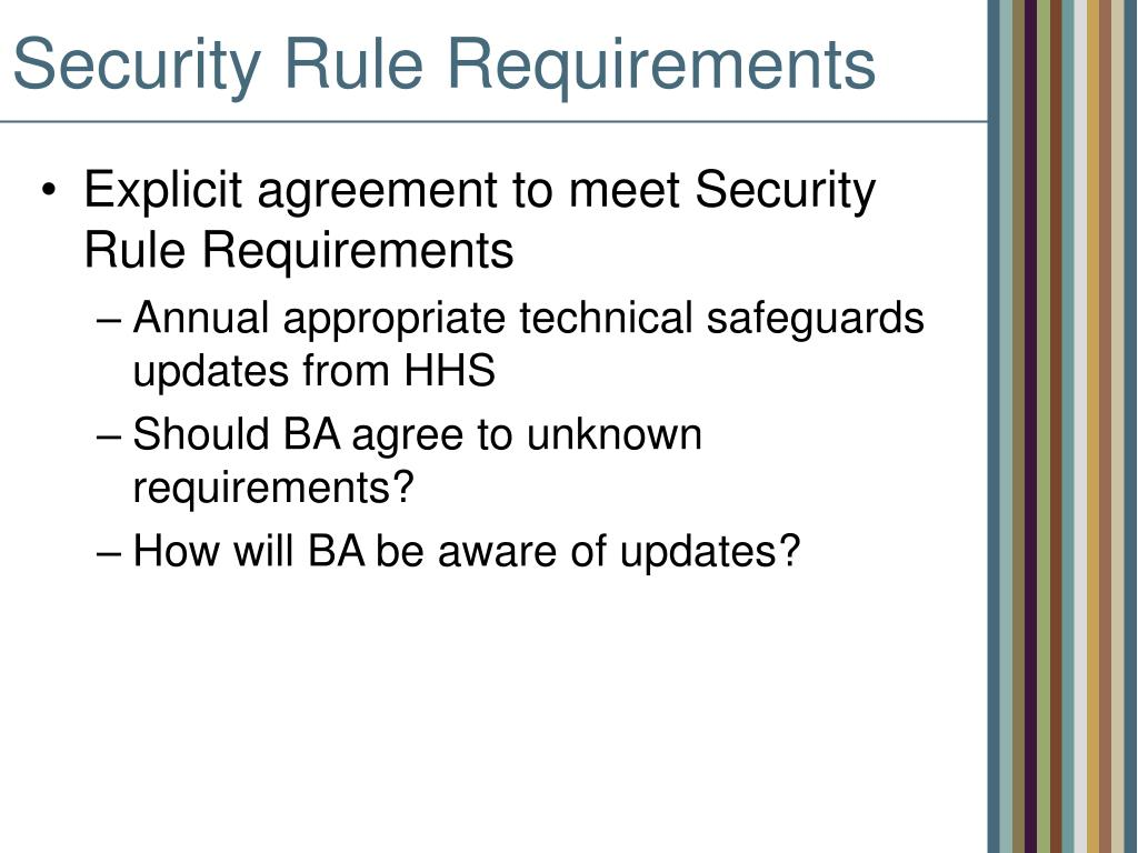 Security Rule Requirements