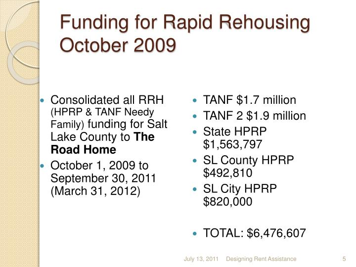 Funding for Rapid