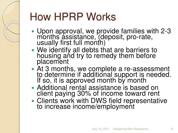 How HPRP Works