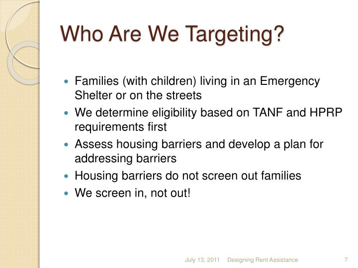Who Are We Targeting?