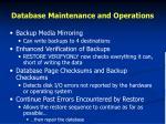 database maintenance and operations1