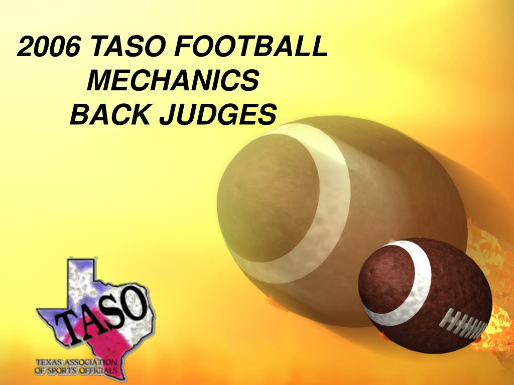 2006 TASO FOOTBALL MECHANICS
