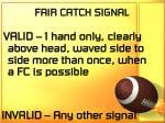 fair catch signal