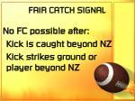 fair catch signal68