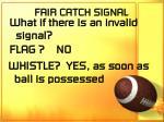 fair catch signal69