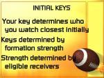 initial keys