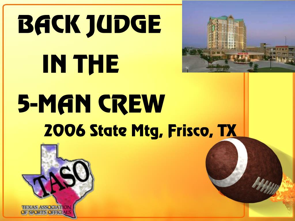 BACK JUDGE