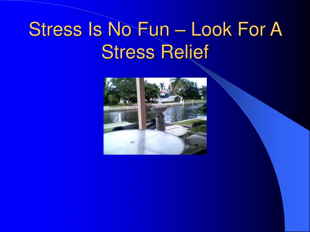 Stress Is No Fun – Look For A Stress Relief
