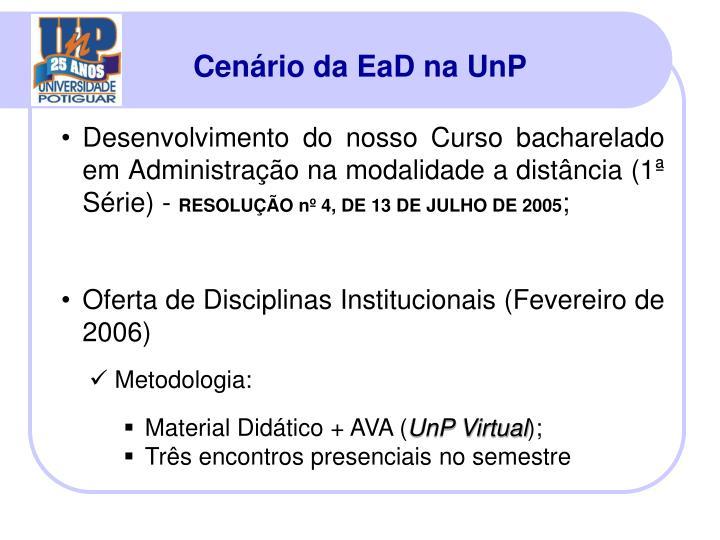 Cenário da EaD na UnP