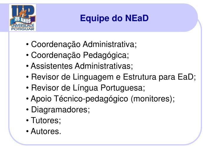 Equipe do NEaD