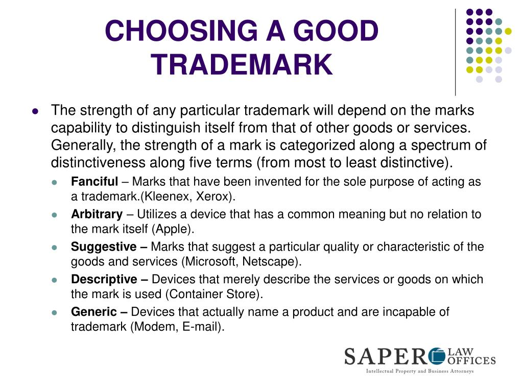 CHOOSING A GOOD TRADEMARK