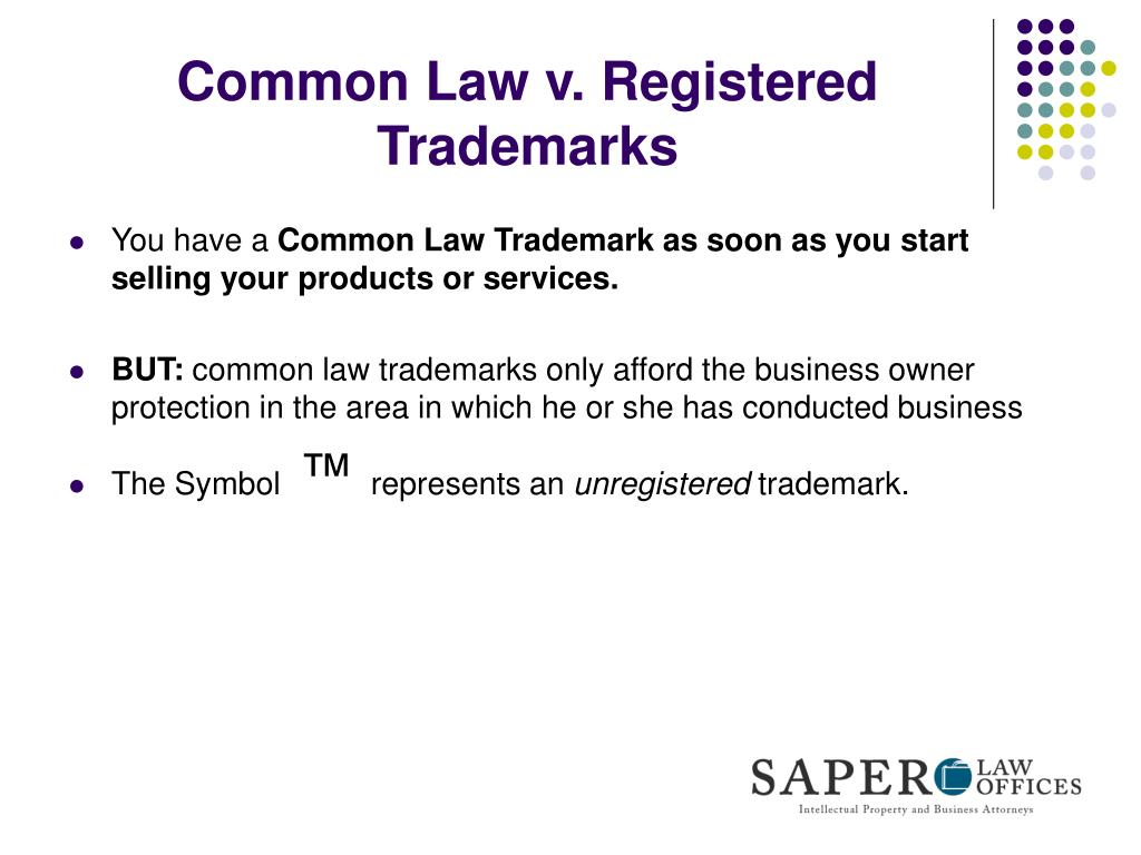 Common Law v. Registered Trademarks