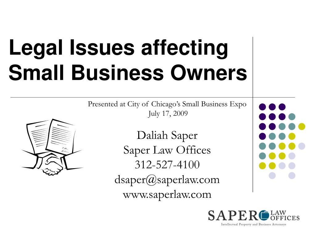 Legal Issues affecting