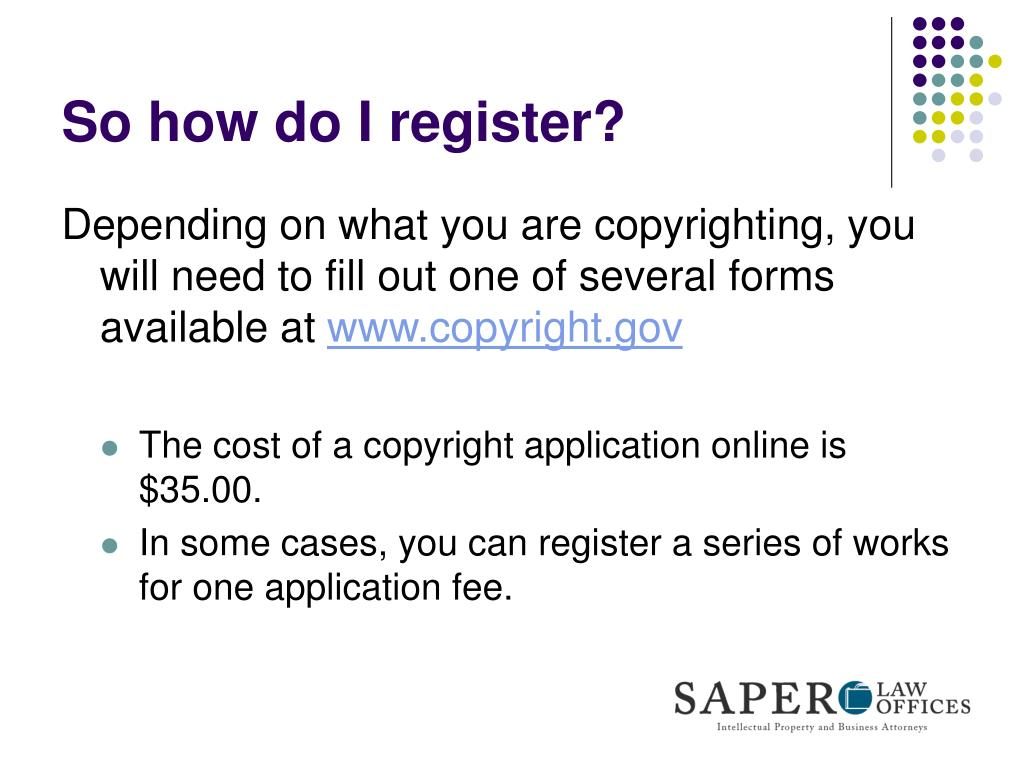 So how do I register?