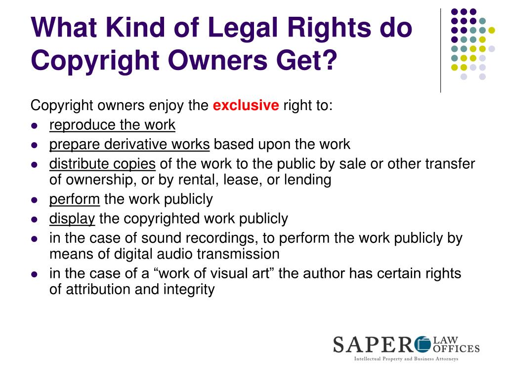 What Kind of Legal Rights do Copyright Owners Get?