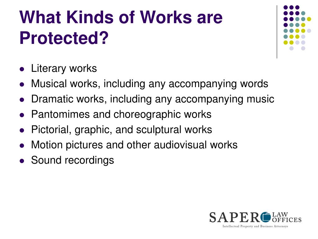 What Kinds of Works are Protected?