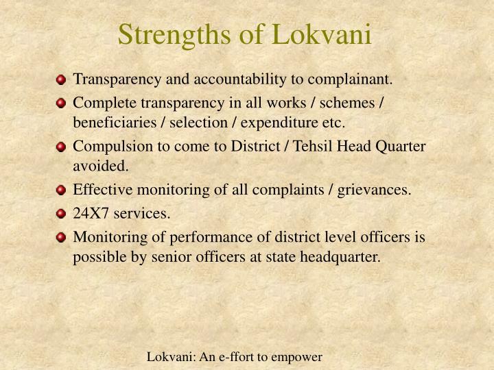 Strengths of Lokvani