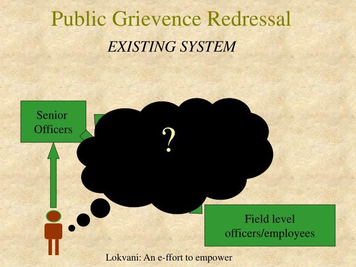 Public Grievence Redressal