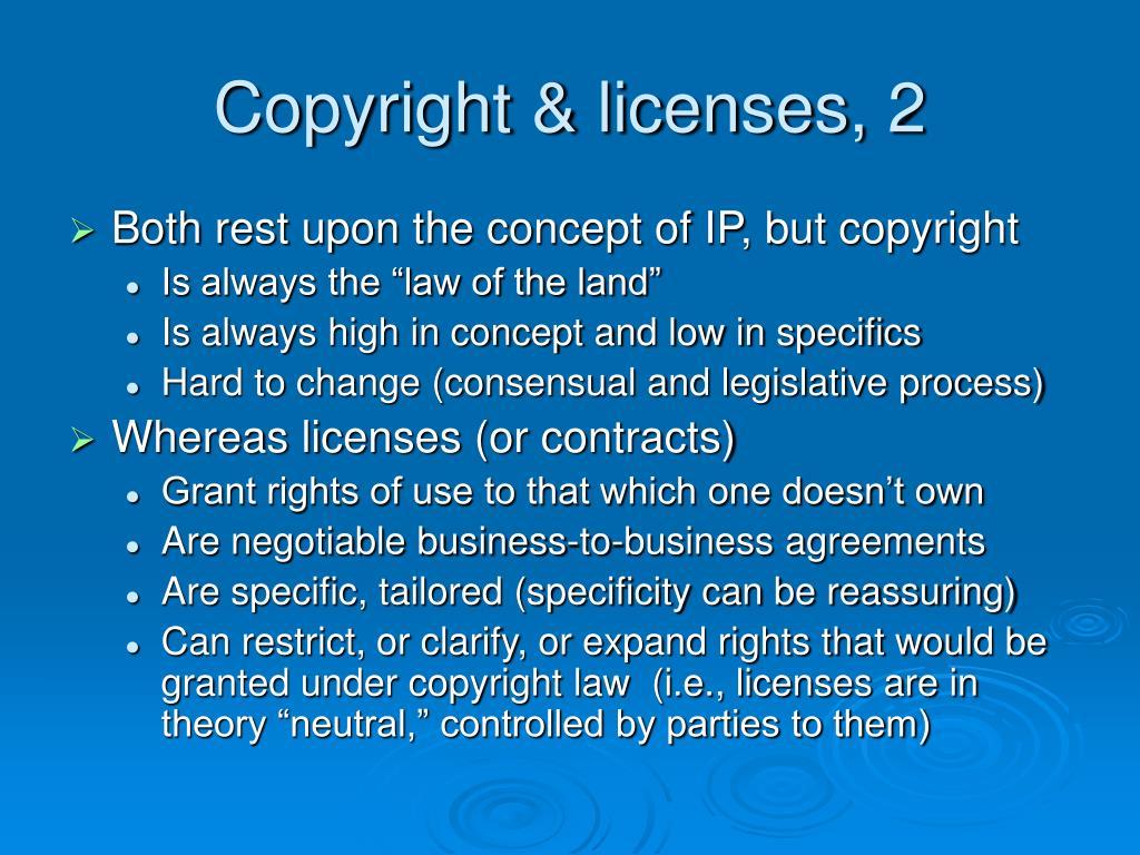 Copyright & licenses, 2