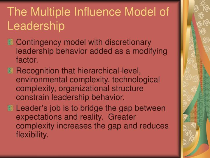 The Multiple Influence Model of Leadership