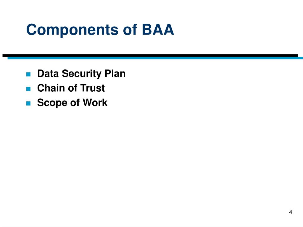 Components of BAA