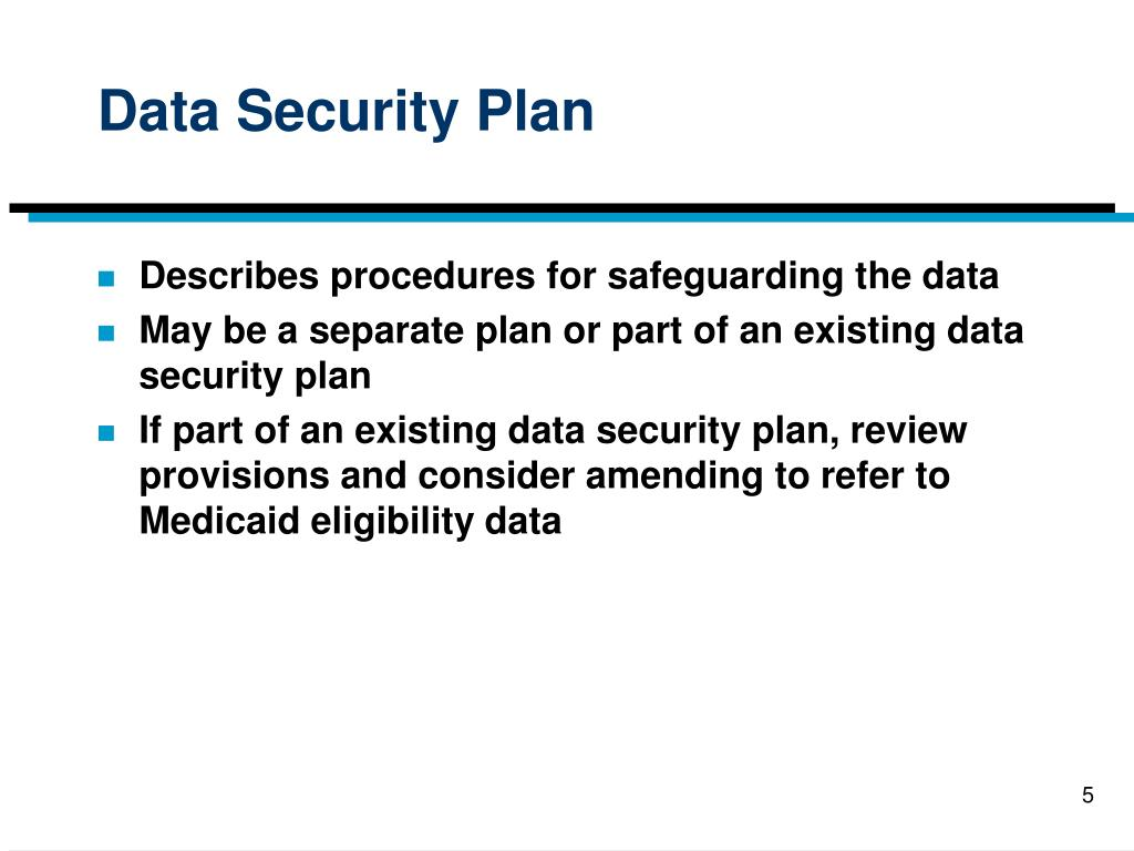Data Security Plan