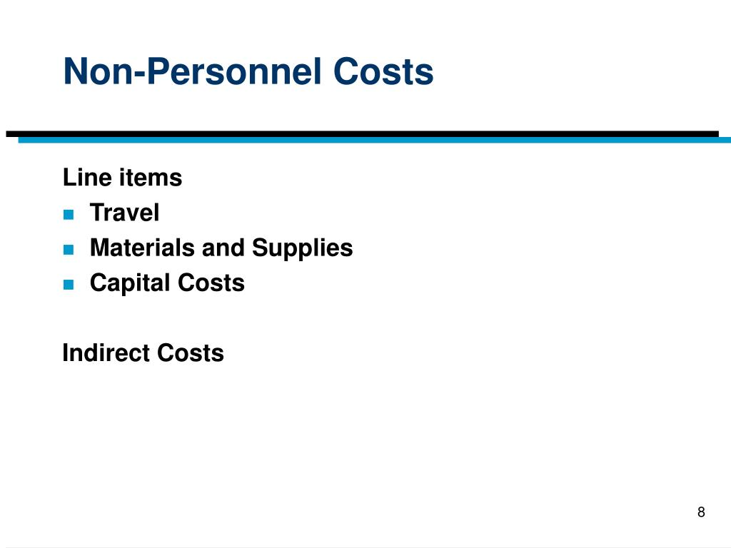 Non-Personnel Costs
