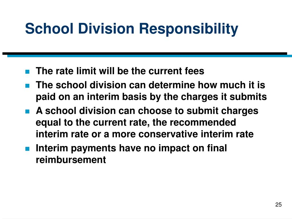 School Division Responsibility