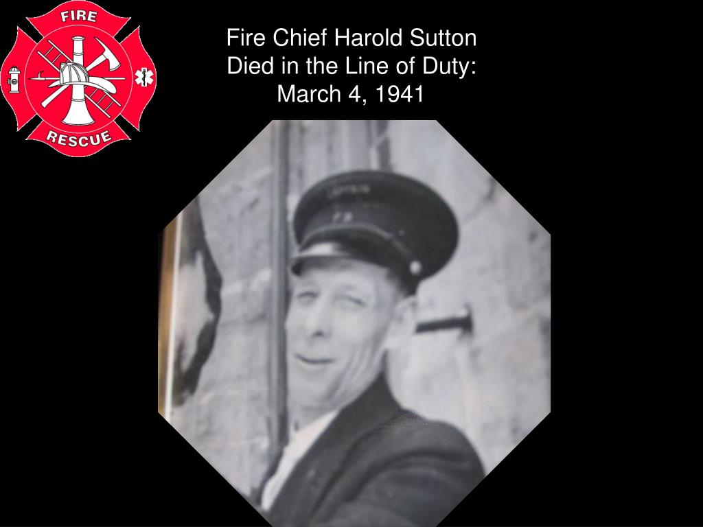 Fire Chief Harold Sutton