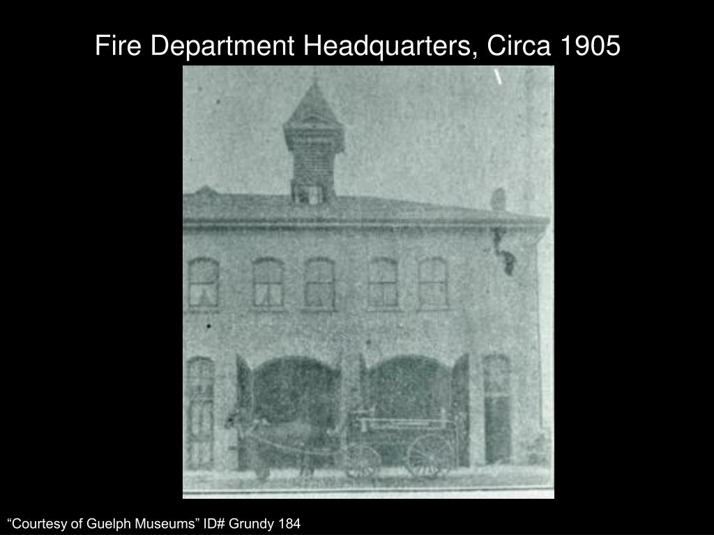 Fire Department Headquarters, Circa 1905