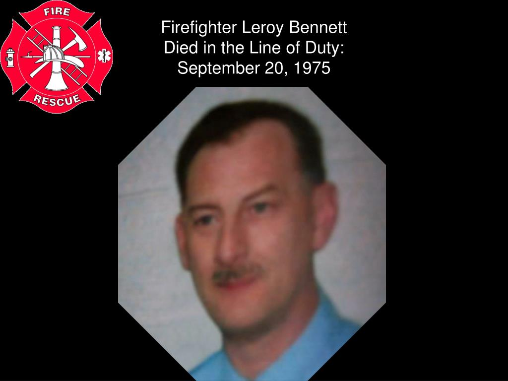 Firefighter Leroy Bennett
