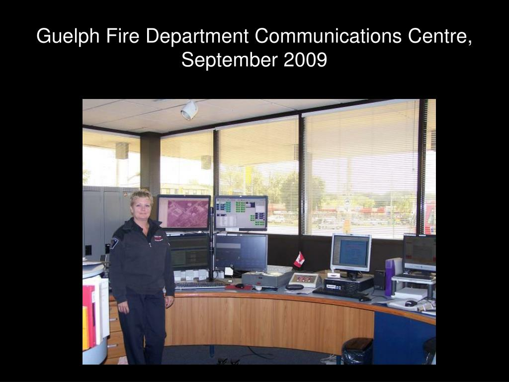 Guelph Fire Department Communications Centre, September 2009
