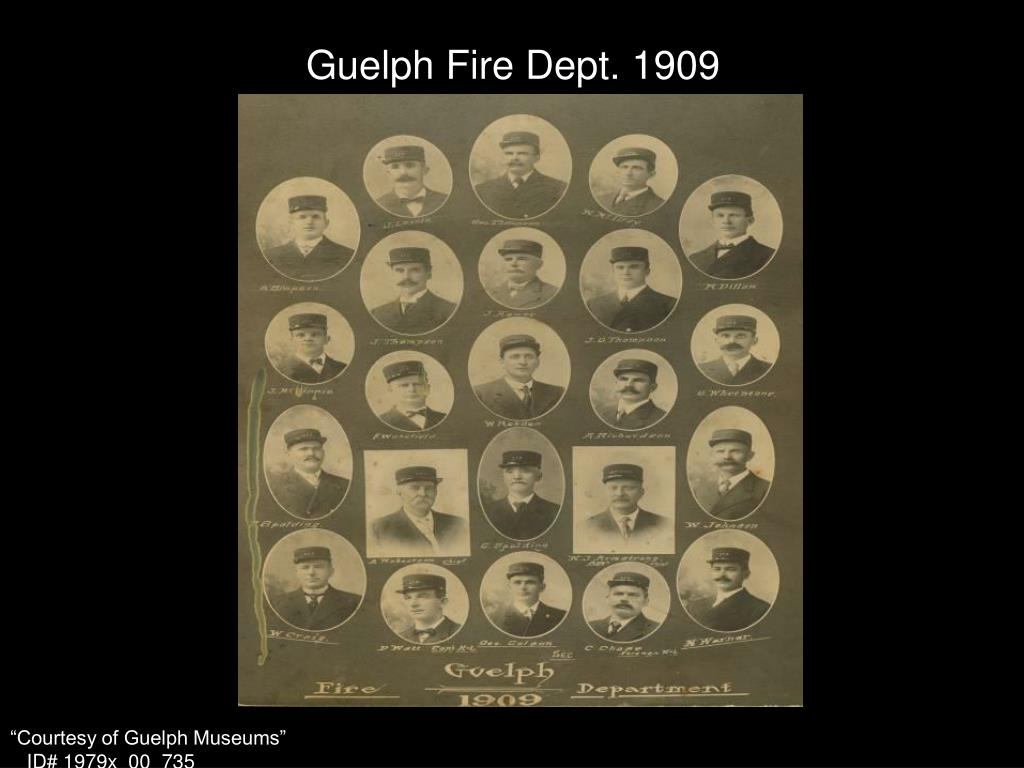 Guelph Fire Dept. 1909