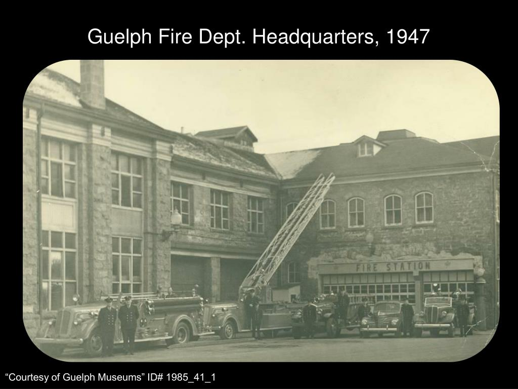 Guelph Fire Dept. Headquarters, 1947