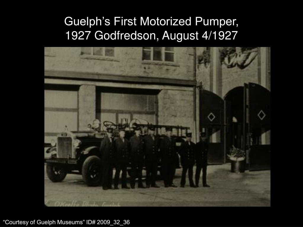 Guelph's First Motorized Pumper,