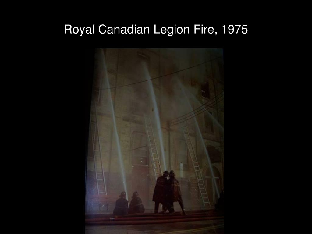 Royal Canadian Legion Fire, 1975