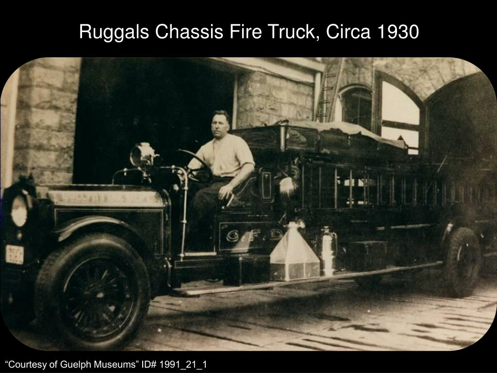 Ruggals Chassis Fire Truck, Circa 1930